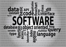 Etiquetas del software Foto de archivo libre de regalías
