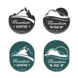 Etiquetas del vector de la montaña Foto de archivo