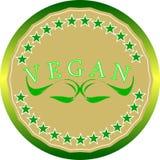 Etiquetas del vegano Foto de archivo