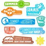 Etiquetas del verano Imagen de archivo libre de regalías