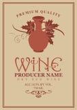 Etiquetas del vino con la arcilla del jarro Fotografía de archivo