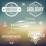 Etiquetas del vintage Ilustración del Vector