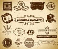 Etiquetas del vintage. Colección 17 Fotografía de archivo libre de regalías