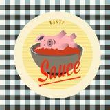 Etiquetas del vintage de la salsa del color Fotografía de archivo libre de regalías