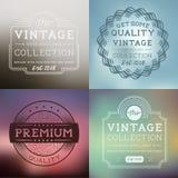 Etiquetas del vintage del vector Fotografía de archivo