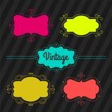 Etiquetas del vintage, sistema Foto de archivo