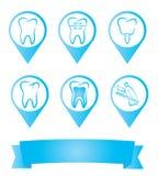 Etiquetas dentales stock de ilustración