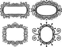 Etiquetas dibujadas mano del garabato Imagen de archivo libre de regalías