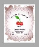 Etiquetas do álcool do fruto do vintage Foto de Stock Royalty Free