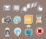 Etiquetas do ícone do Web Foto de Stock