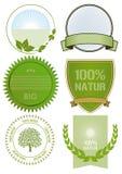 Etiquetas do alimento biológico Imagens de Stock Royalty Free