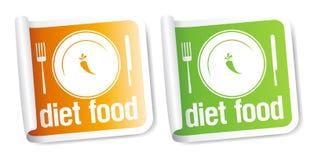 Etiquetas do alimento da dieta. Imagem de Stock