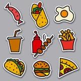 Etiquetas do alimento da rua Fotos de Stock Royalty Free