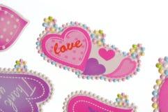 Etiquetas do amor Fotos de Stock