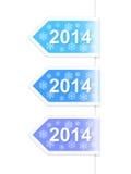 Etiquetas do ano novo 2014. Ilustração do vetor Fotografia de Stock Royalty Free