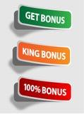 Etiquetas do bônus Imagens de Stock Royalty Free
