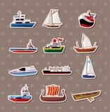 Etiquetas do barco Fotografia de Stock