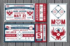 Etiquetas do basebol Fotografia de Stock Royalty Free