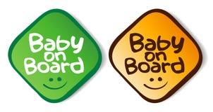 Etiquetas do bebê a bordo. Fotos de Stock