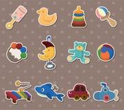 Etiquetas do brinquedo do bebê Fotografia de Stock