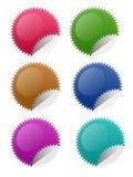 Etiquetas do círculo da estrela Imagens de Stock Royalty Free