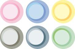 Etiquetas do círculo de cor Pastel Fotografia de Stock Royalty Free