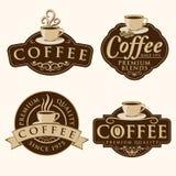 Etiquetas do café Foto de Stock Royalty Free