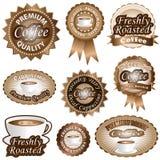 Etiquetas do café Fotos de Stock Royalty Free