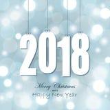 etiquetas do cair com ano 2018 Imagem de Stock Royalty Free