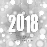 etiquetas do cair com ano 2018 Fotografia de Stock Royalty Free