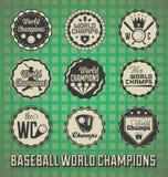 Etiquetas do campeão mundial do basebol Foto de Stock Royalty Free