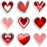 Etiquetas do coração ilustração royalty free