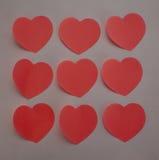 Etiquetas do coração Fotos de Stock