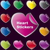 Etiquetas do coração Foto de Stock