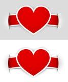 Etiquetas do coração Imagem de Stock