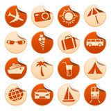 Etiquetas do curso & do turismo Imagem de Stock Royalty Free