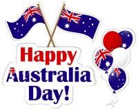 Etiquetas do dia de Austrália. ilustração do vetor