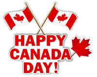 Etiquetas do dia de Canadá. foto de stock