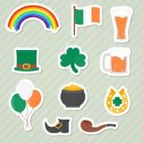 Etiquetas do dia de Patricks de Saint Fotos de Stock Royalty Free