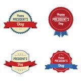 Etiquetas do dia do presidente Fotografia de Stock Royalty Free