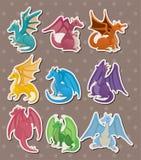 Etiquetas do dragão do incêndio ilustração royalty free
