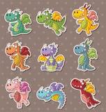 Etiquetas do dragão do incêndio Fotografia de Stock