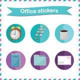 Etiquetas do escritório Imagem de Stock