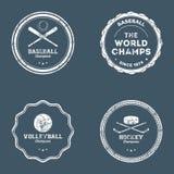Etiquetas do esporte Imagens de Stock Royalty Free