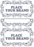 Etiquetas do estilo da beira em assuntos diferentes Foto de Stock Royalty Free