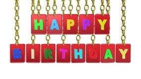 Etiquetas do feliz aniversario, animação video filme