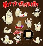 Etiquetas do gato ajustadas Fotografia de Stock
