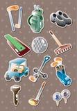Etiquetas do golfe Imagem de Stock