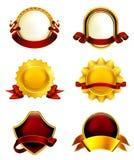 Etiquetas do luxo com fitas ilustração royalty free