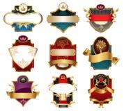 Etiquetas do luxo de Vctor Imagem de Stock Royalty Free